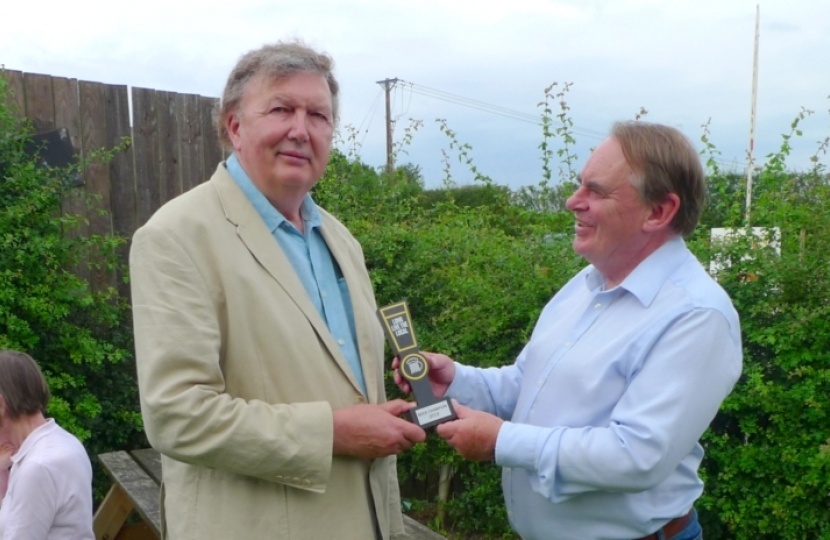 Presentation to Rt Hon Sir Greg Knight MP
